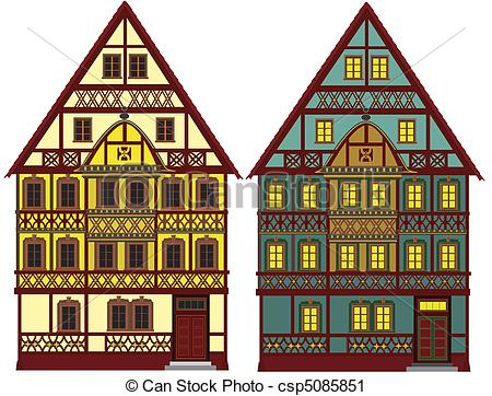 German house clipart.