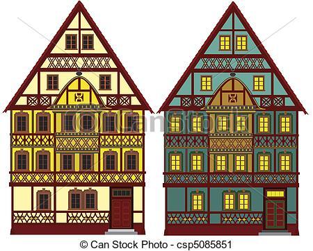 German house clipart.