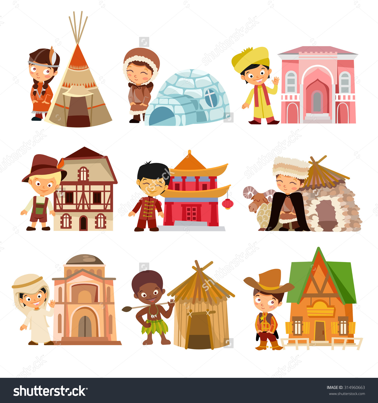 Traditional housing clipart - Clipground