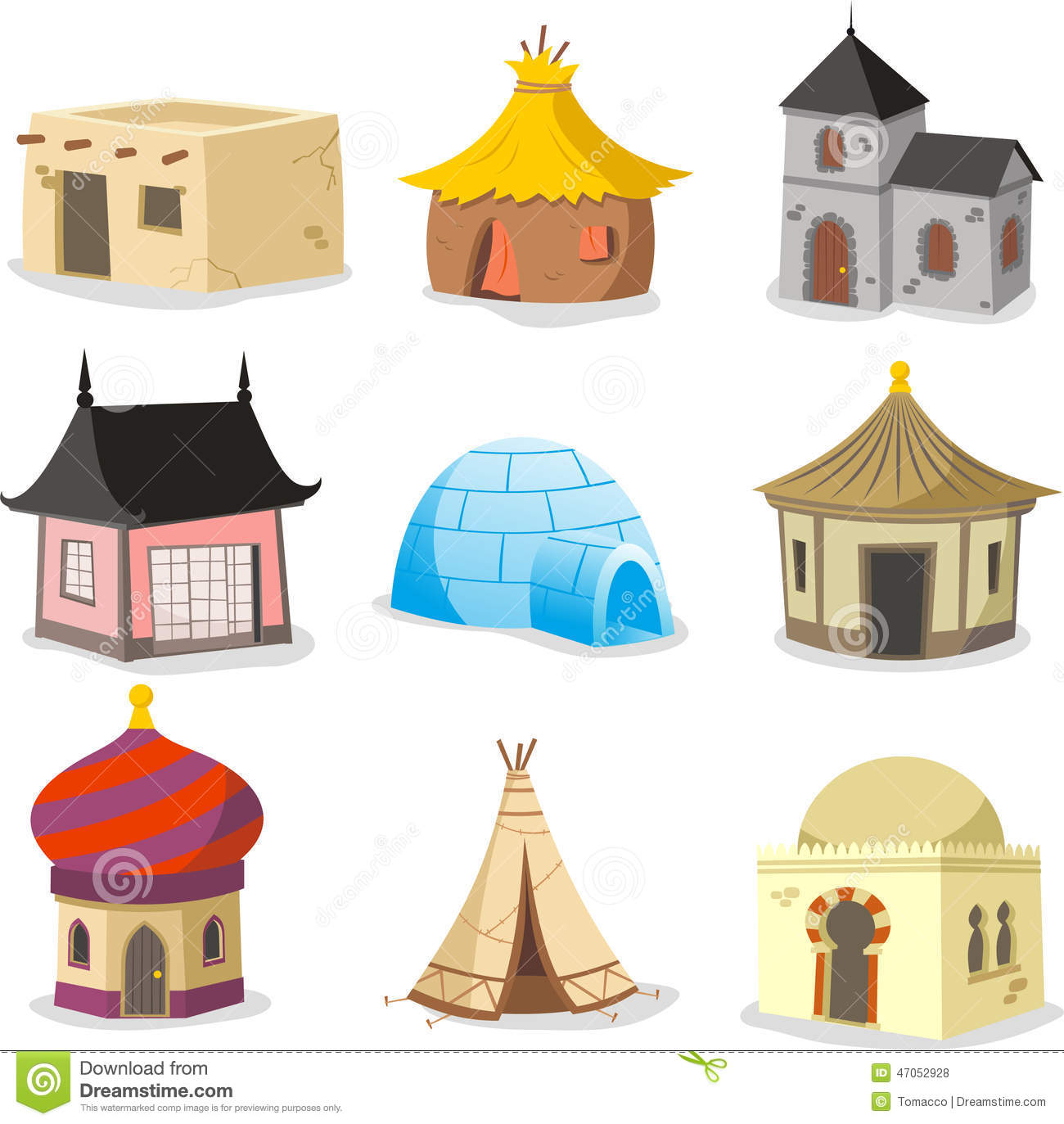 Traditional housing clipart clipground for Different kinds of homes