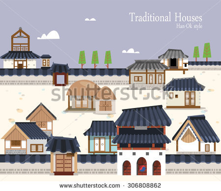Korea Traditional House Stock Photos, Royalty.