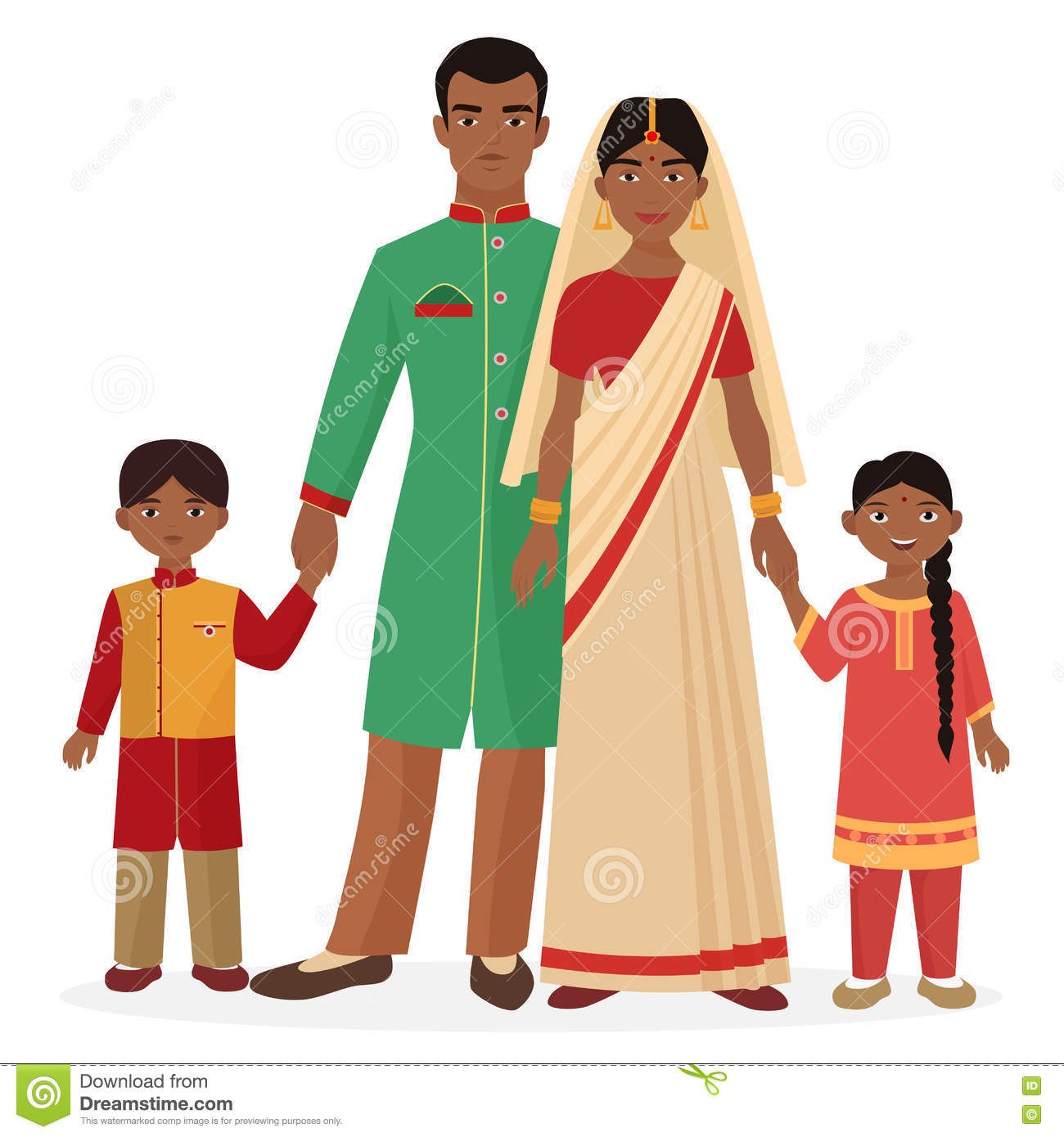 Indian dress clipart for kids.