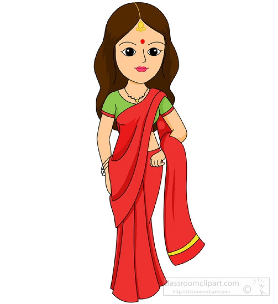 Traditional dress clipart.