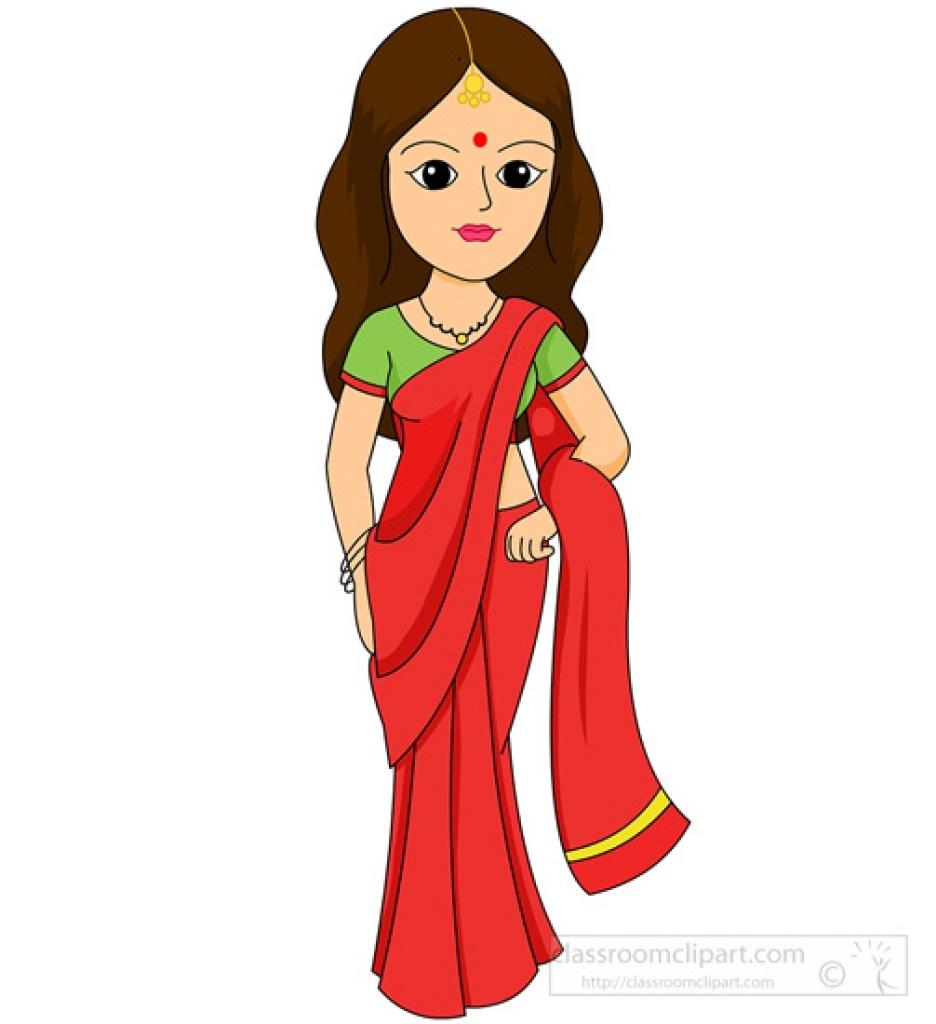 Indian Kid Costume Cartoon
