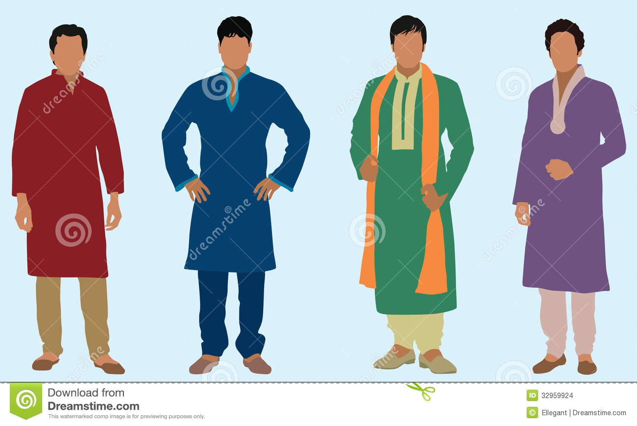 Indian traditional dress clipart.
