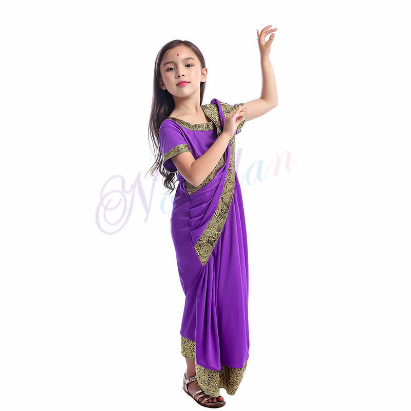 Indian Saree Party India Sari Dress Bollywood Girls Traditional Indian  Clothes For Kids Children.