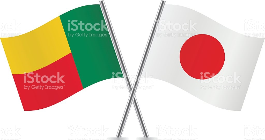Benin And Japan Flags Vector stock vector art 499886138.