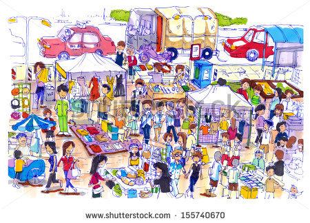 Market pictures clip art.