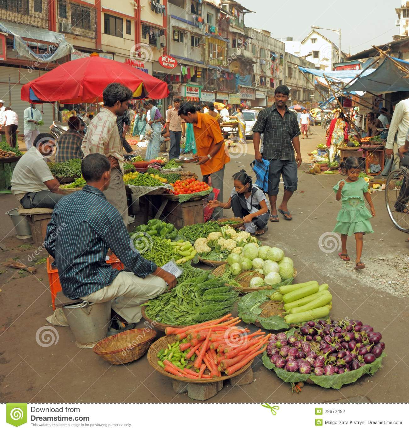 Traditional Street Market Editorial Photography.