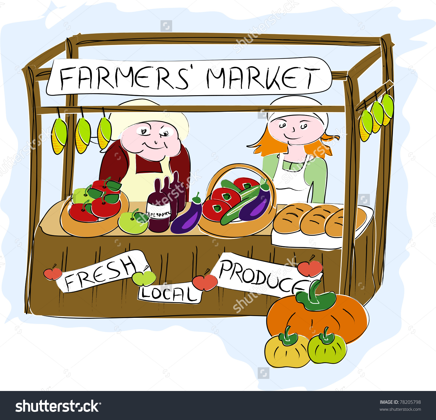 Traditional Market Clipart.