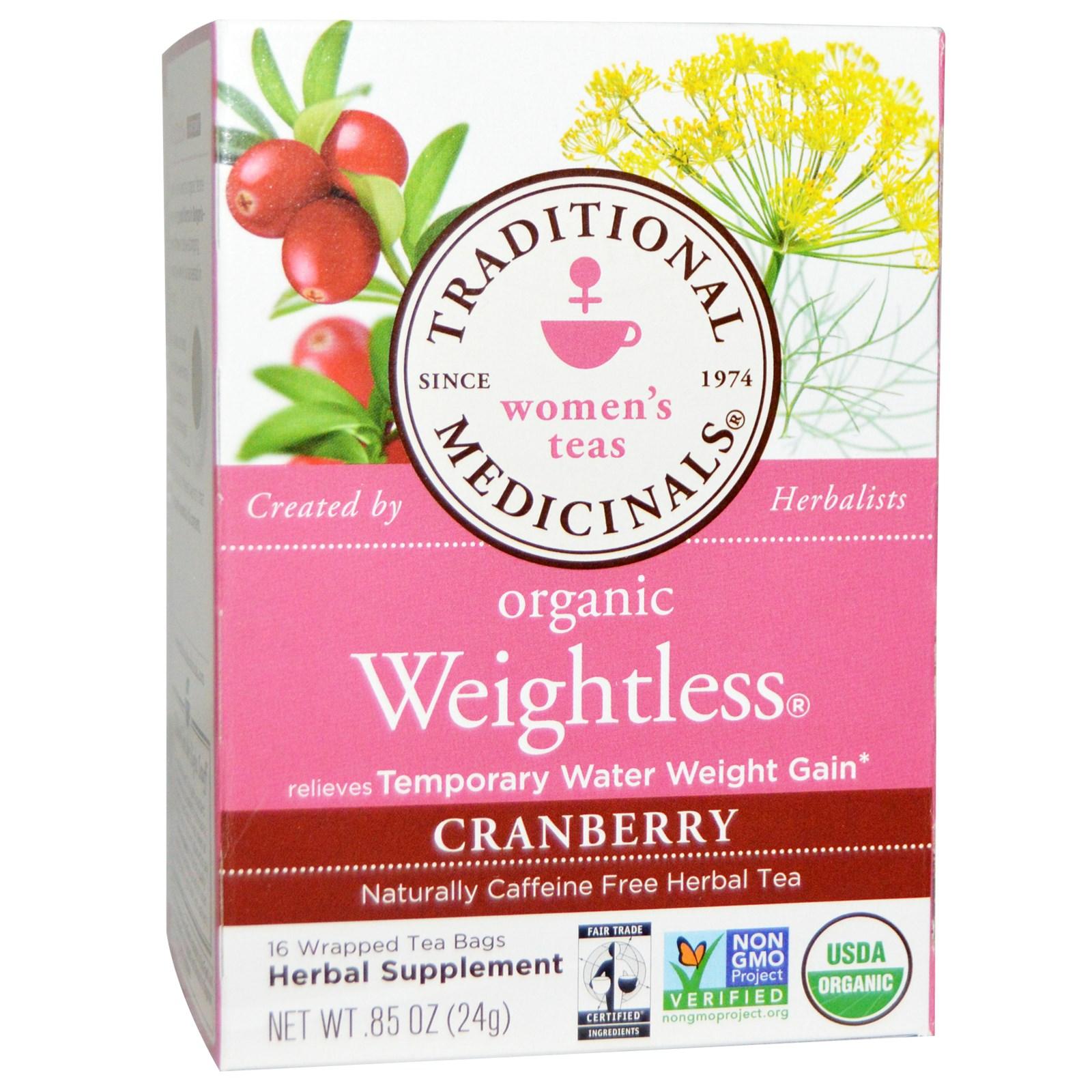 Traditional Medicinals, Women's Teas, Organic Weightless.