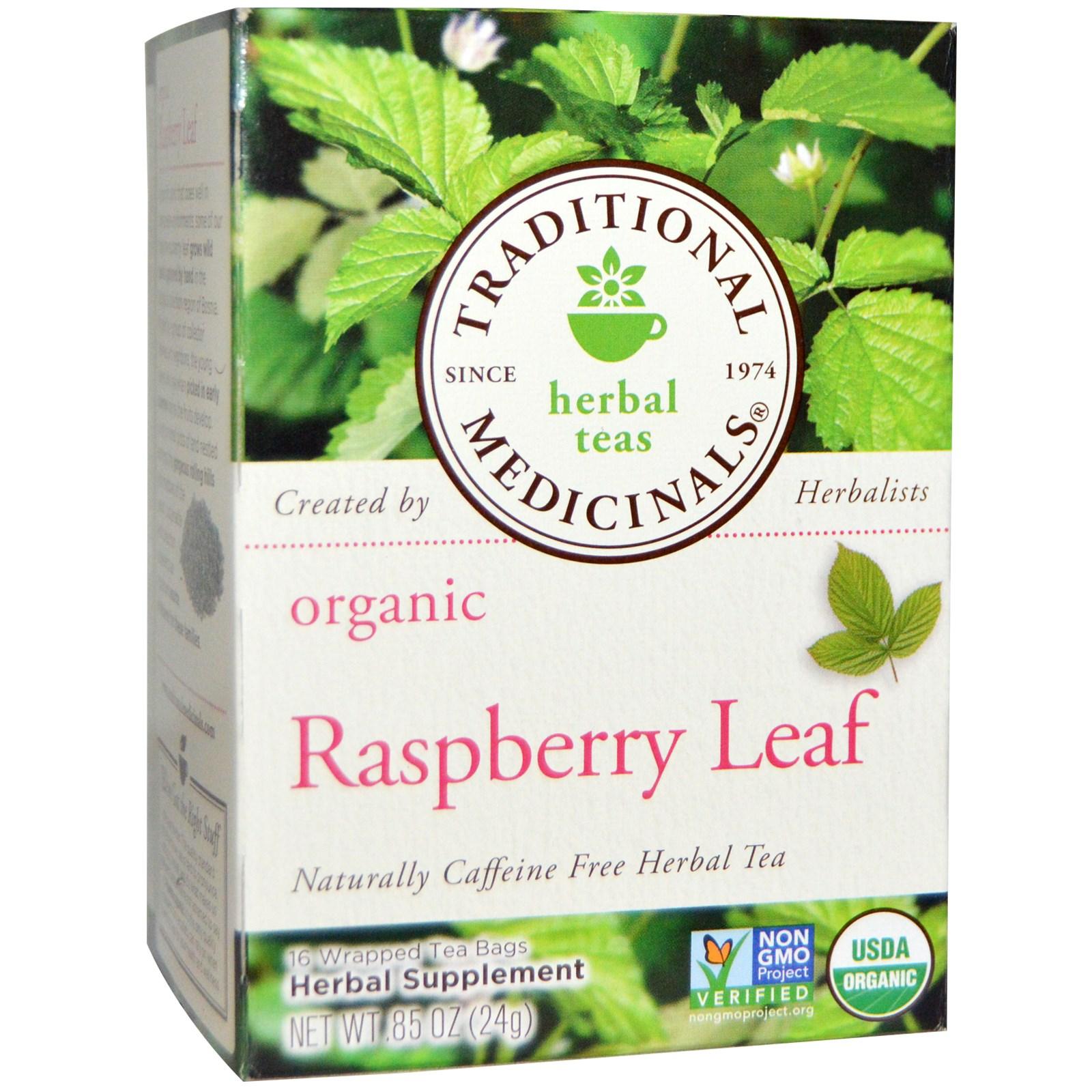 Traditional Medicinals, Herbal Tea, Organic Raspberry Leaf.