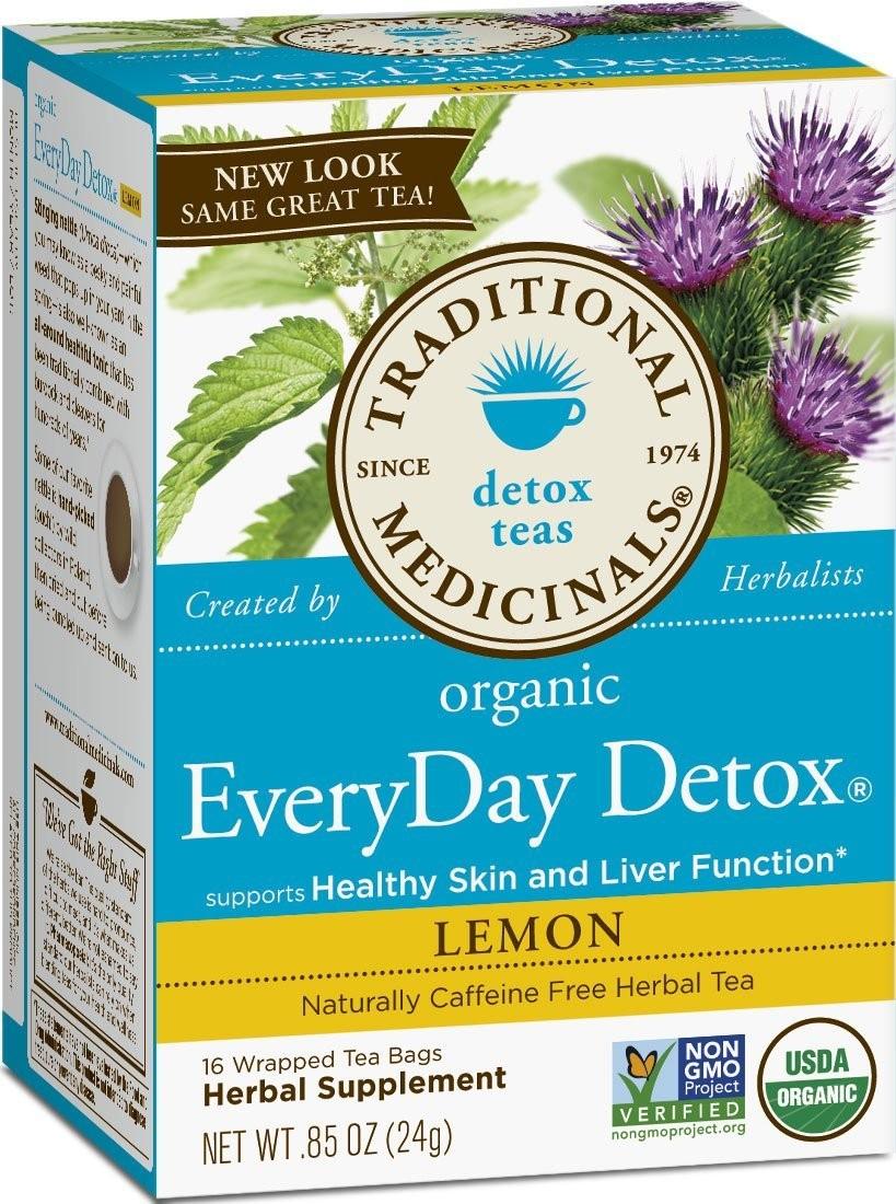 Traditional Medicinals Detox Tea, Organic, EveryDay Detox, Lemon.