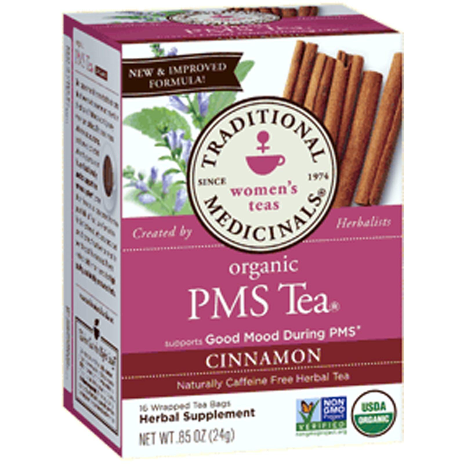Traditional Medicinals, Women's Teas, Organic PMS Tea, Cinnamon.