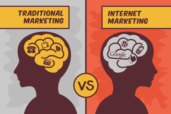 Internet vs. Traditional Marketing.