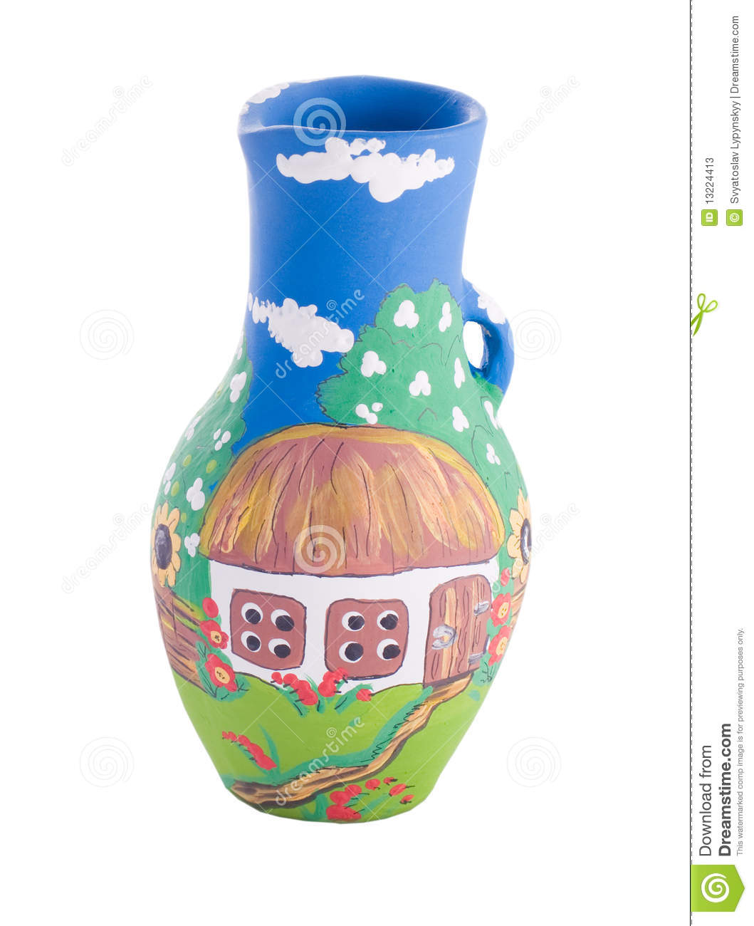 Ukrainian Traditional Pottery Ceramics Stock Photos.