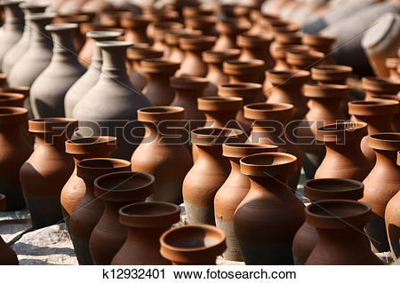 Stock Photography of Traditional pottery craftsmanship k12932401.