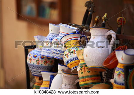 Pictures of Traditional Pottery in Toledo, Spain k10348428.