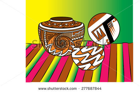 Indian Pottery Stock Photos, Royalty.