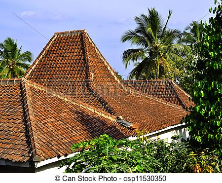 Stock Images of Traditional roof tiles.