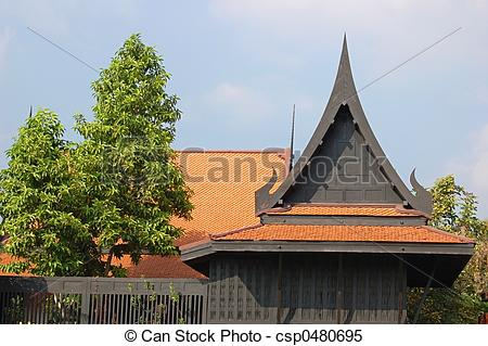 Stock Images of Thai roof.
