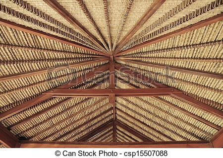 Pictures of Balinese Roof Construction.