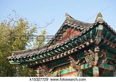 Stock Photograph of Korean Traditional Roof k15327729.