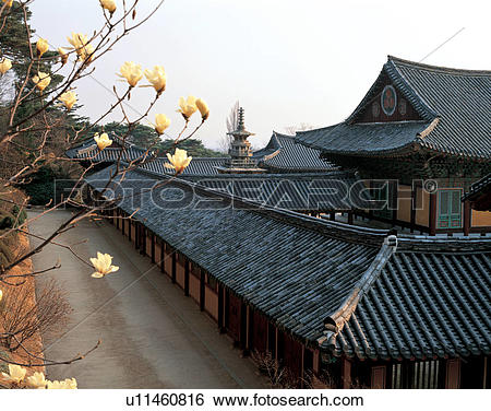 Stock Images of stone pagoda, design, tiled roof, pattern.
