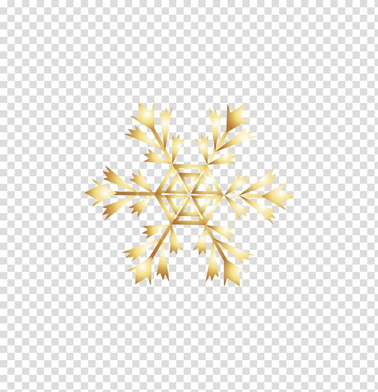 Snowflake Computer file, Golden snowflakes transparent.