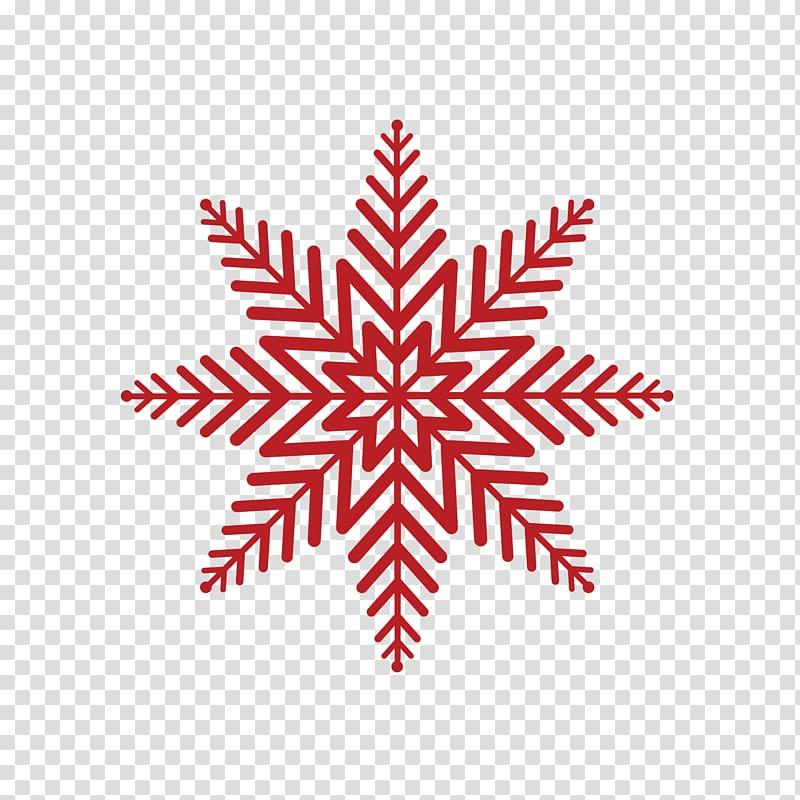 Snowflake Kolam Rangoli, Red snowflake pattern transparent.
