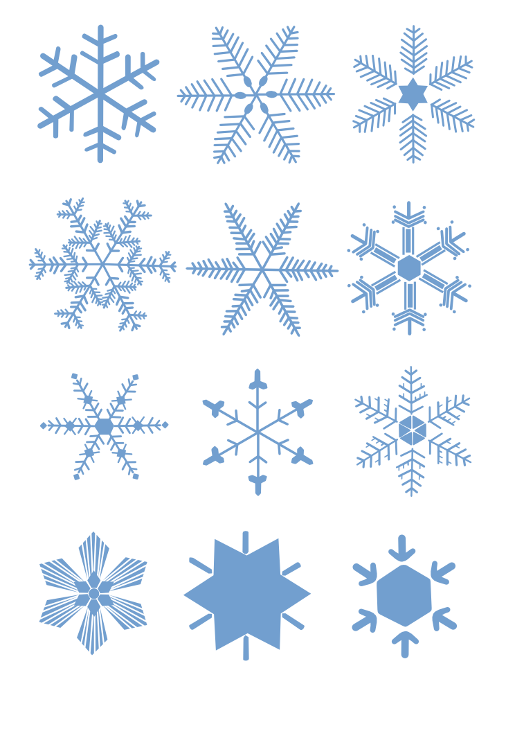 Snowflake Light Clip art.