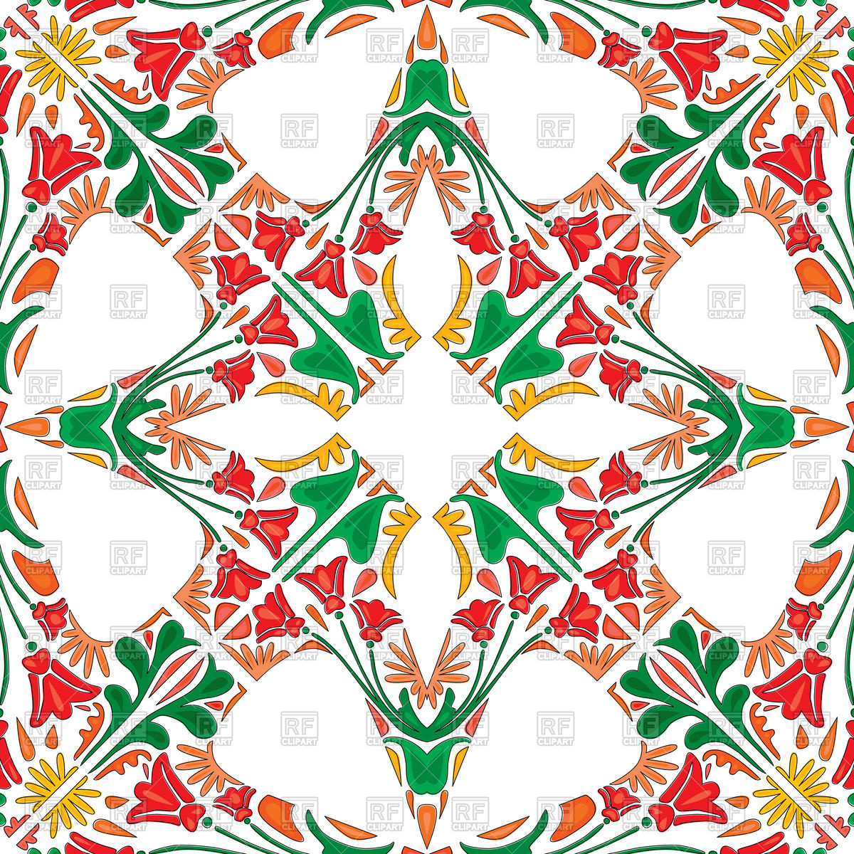 Seamless red pattern in traditional style.