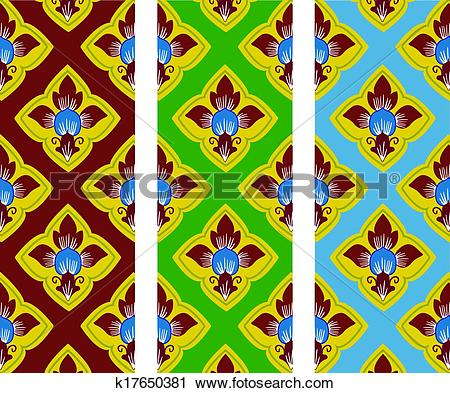 Clipart of thai traditional style art pattern k17650381.