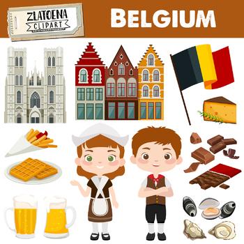 Belgium clip art Belgium clip art Chocolate clipart Gent Brussels Europe  clipart.