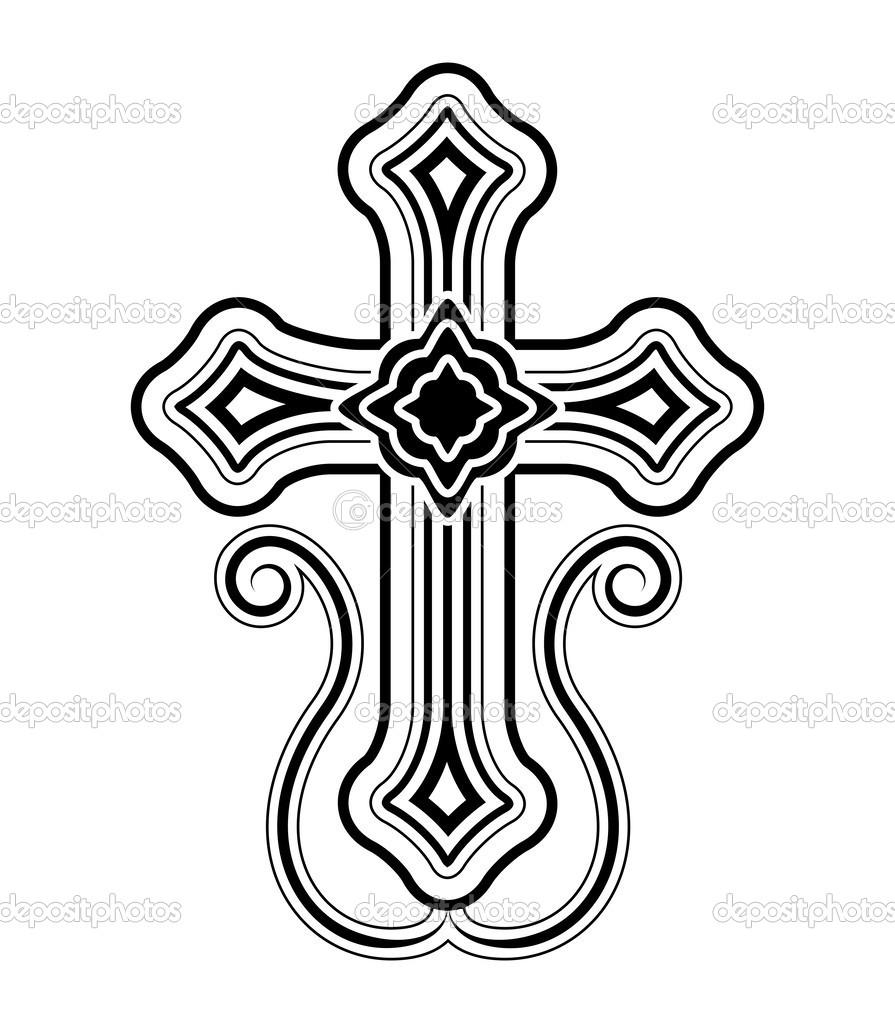Traditionelle armenische Apostolische Kirche Kreuz ClipArt.