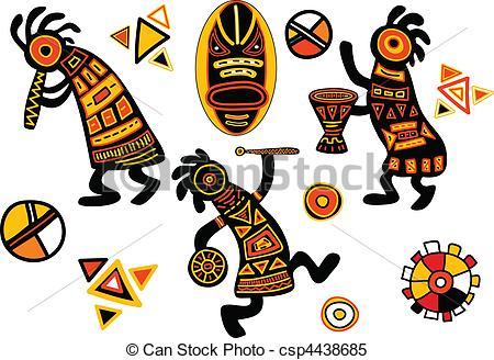 Clipart Vektor von traditionelle, Muster, vektor, afrikanisch.