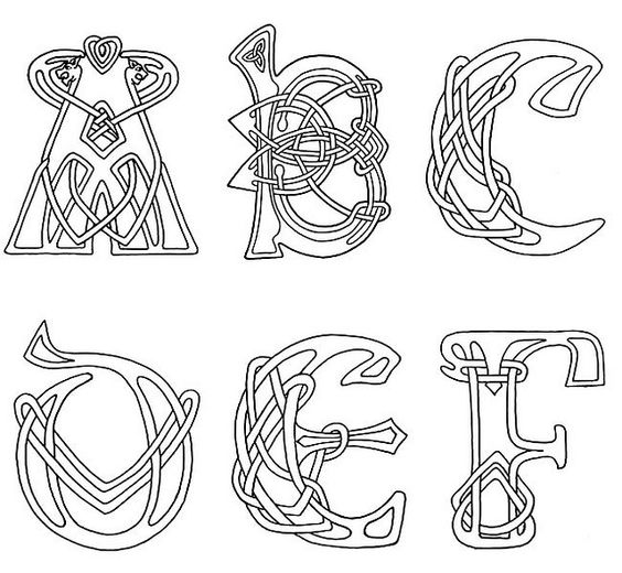 clipart celtic letters.