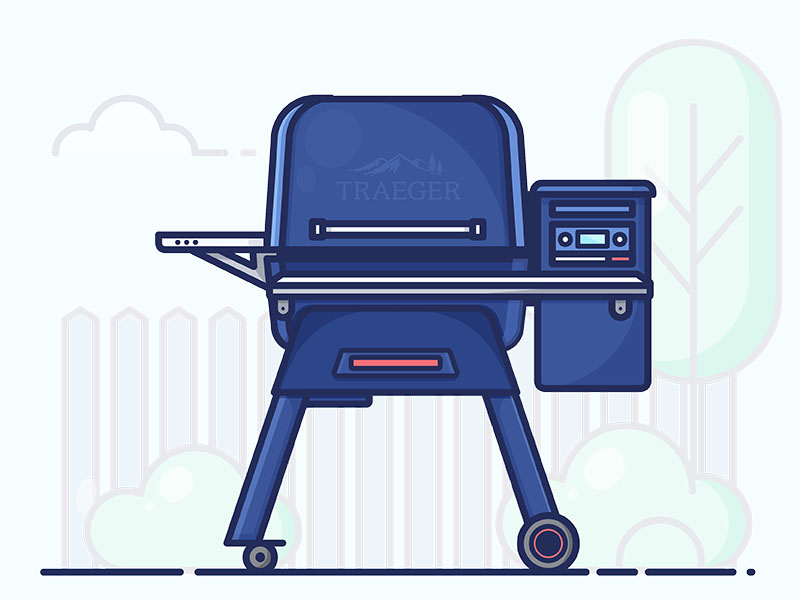 Traeger by Rachael Dudziak on Dribbble.