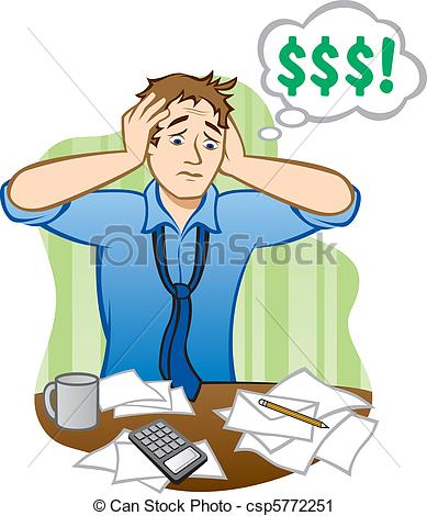 Financial Trouble Clip Art.