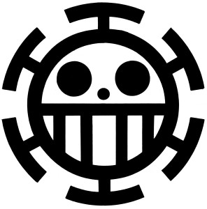 Trafalgar Law Pirate Logo.