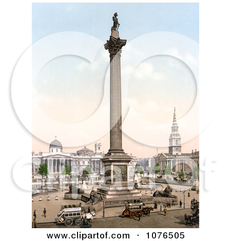 Nelson's Column, Statue of King George IV, St. Martin.