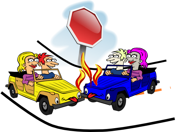 Automobile Crash Clipart.