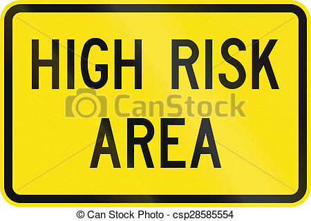 Stock Illustrations of High Risk Area in Australia.