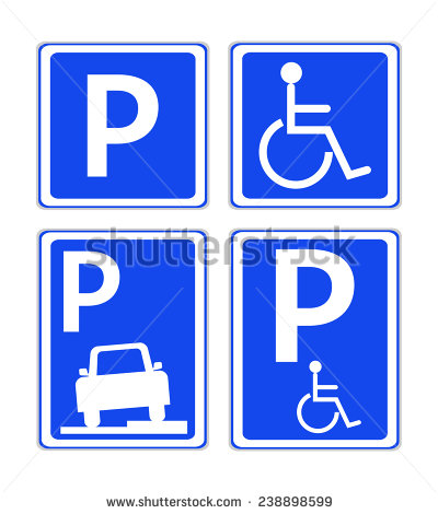 Four Blue Car Parking Area Traffic Stock Vector 238898599.