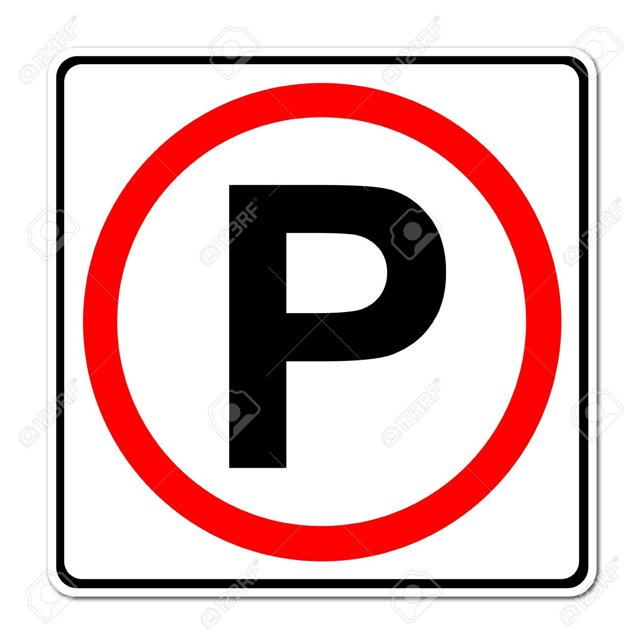 Parking Traffic Sign On White Background Stock Photo, Picture And.