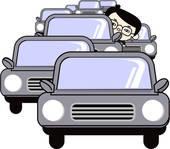 Stock Illustration of Traffic jam, conceptual artwork u55044519.