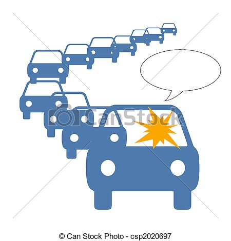 Traffic jam clipart.
