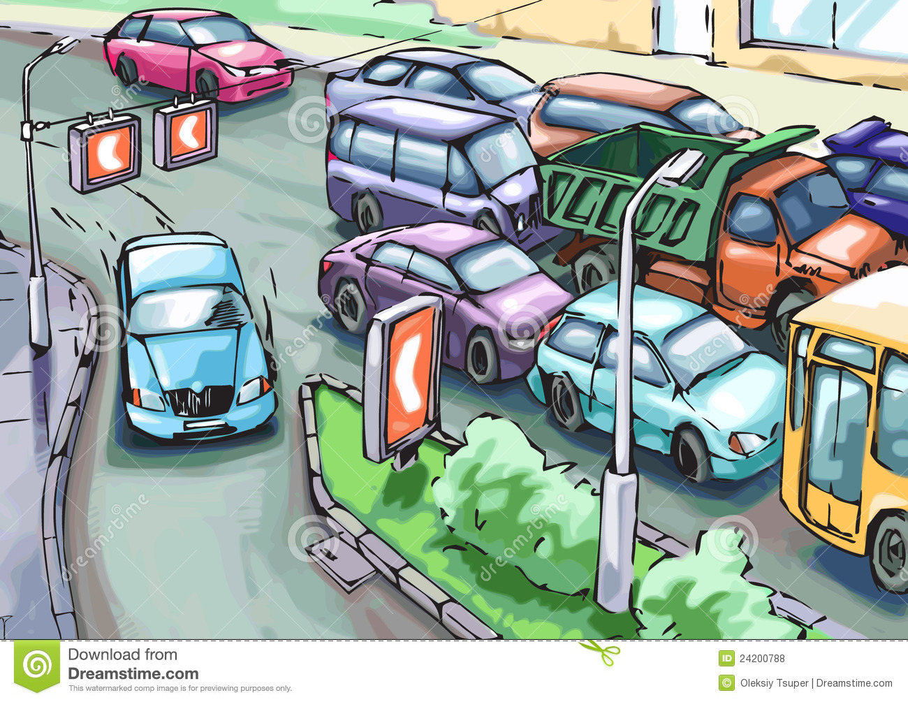 Clipart traffic jam.