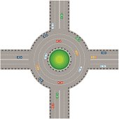 Traffic Circle Stock Photos and Illustrations.