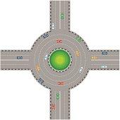 Traffic Circle Stock Photos and Illustrations.